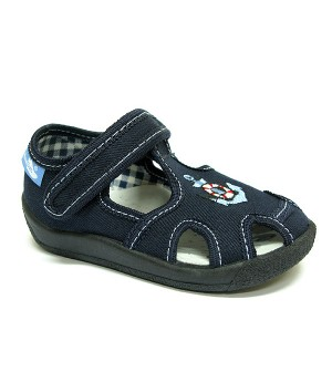 Ethan dark blue shoes with an anchor