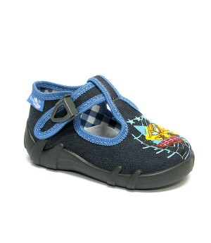 Marek dark grey and blue shoes for a toddler boy