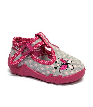Piper pink and grey shoes with butterfly