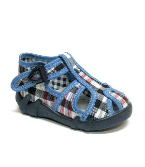 Checkered blue shoes