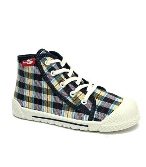 Checkered high top sneakers