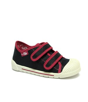 Hazel dark blue and red glitter shoes for a girl