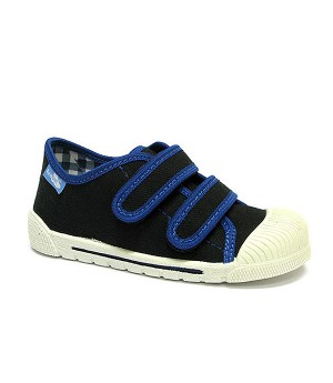 Paul dark blue and black shoes for a preschool boy