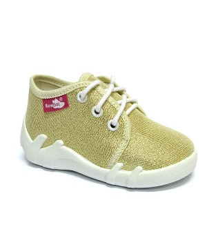 Ivanka gold glitter shoes with laces