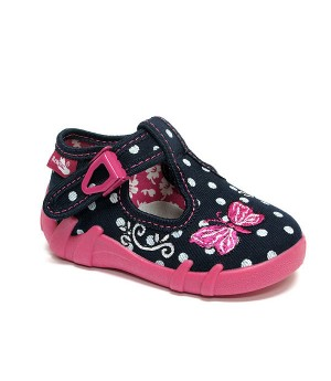 Susie polka dots shoes with a butterfly