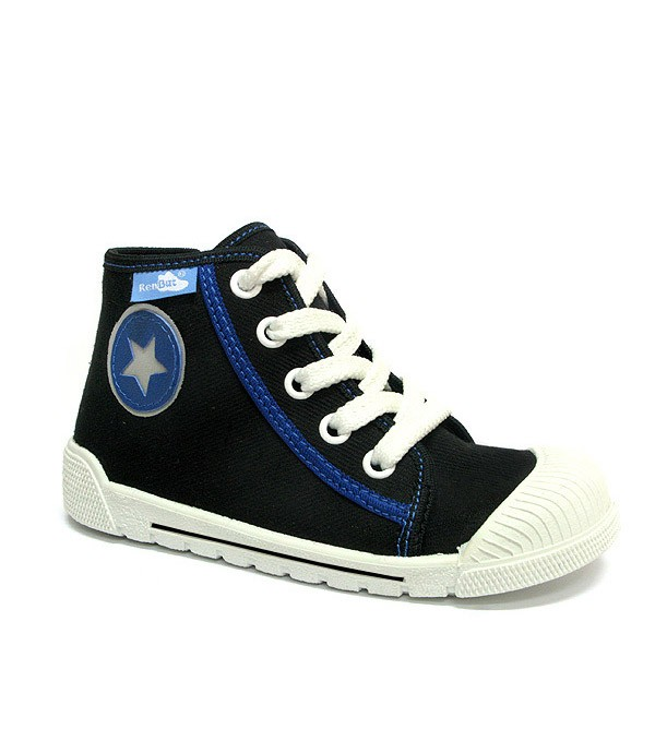Black high top sneakers for a boy