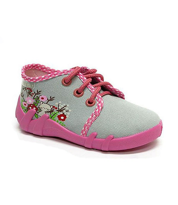 Grey and pink shoes for a toddler girl