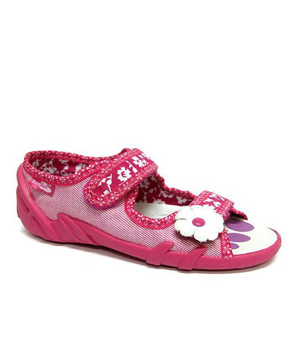 Pink shoes with a flower