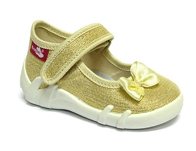 Gold glitter shoes for toddlers