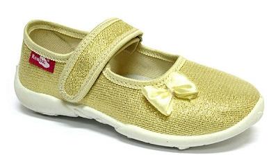Gold glitter shoes for older girls