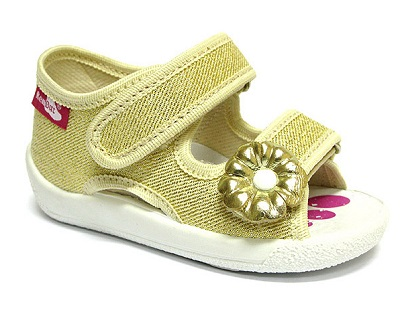 Gold glitter sandals for babies and toddlers