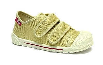 Girls gold glitter shoes