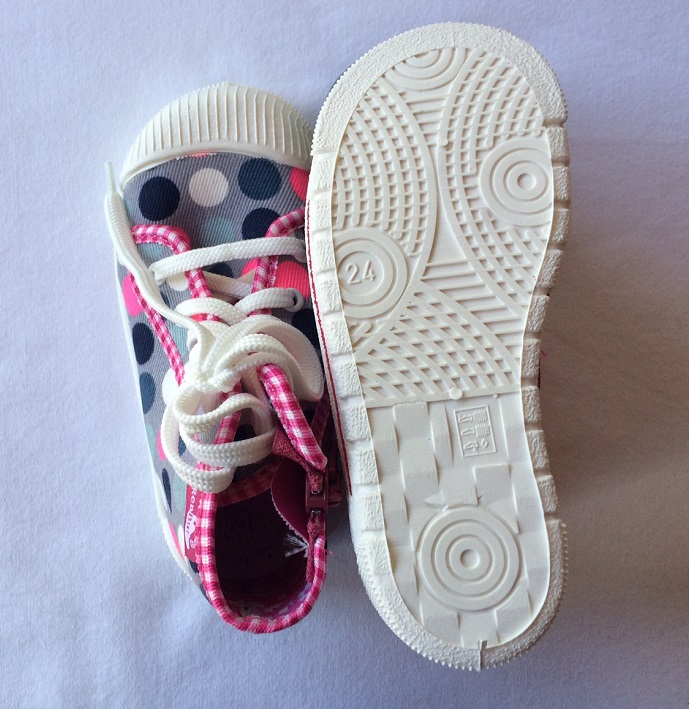 High top sneakers size 24